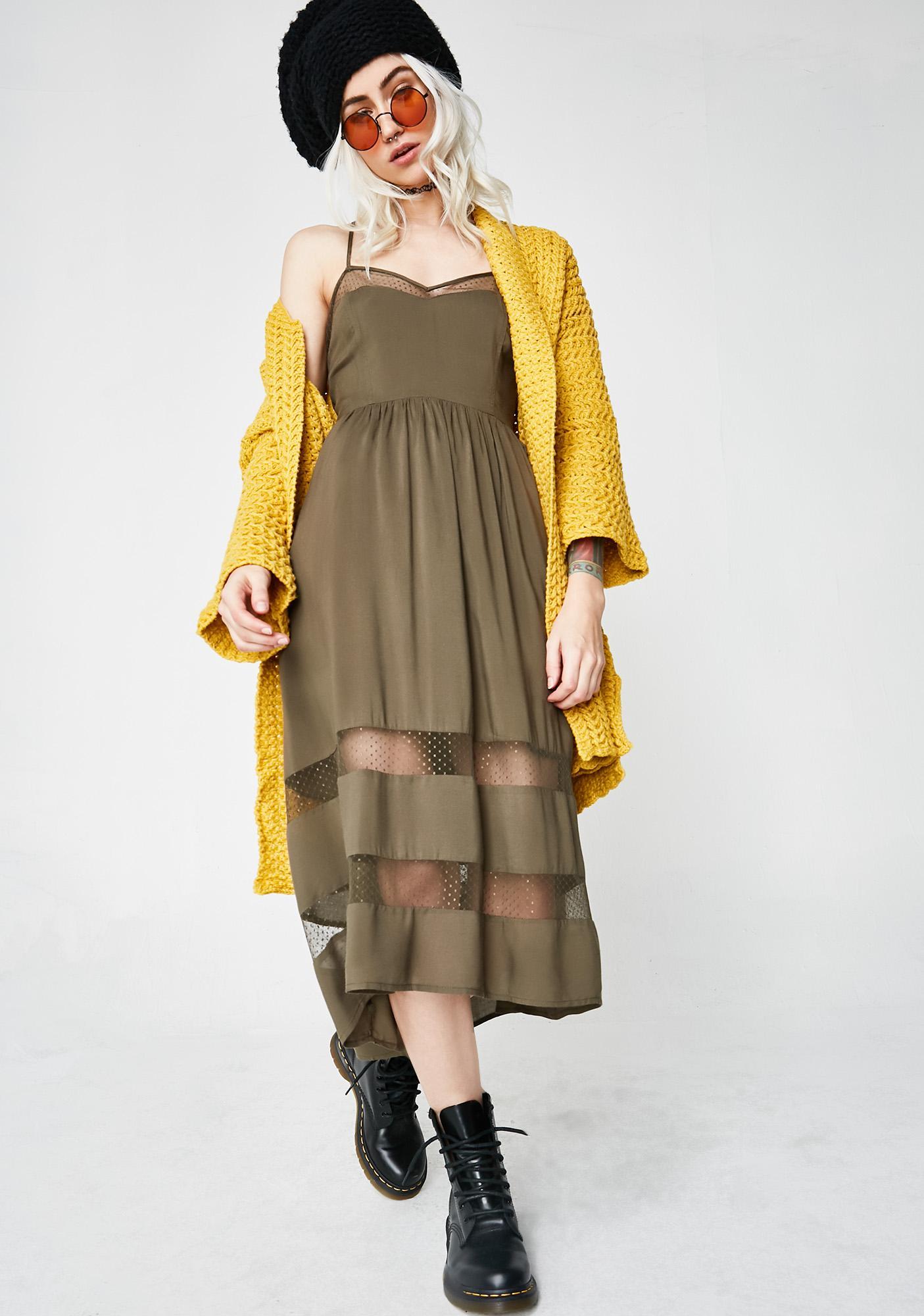 Hypnotize Your Mind Midi Dress