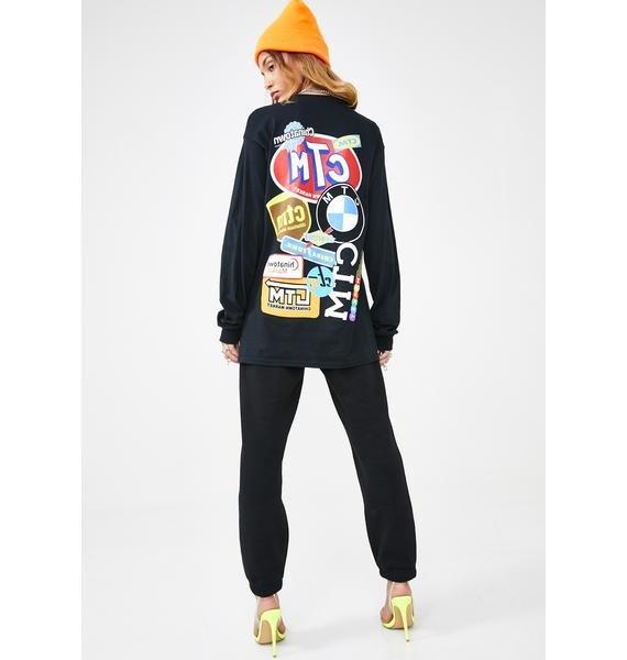 CHINATOWN MARKET Logo Collage Long Sleeve T-Shirt