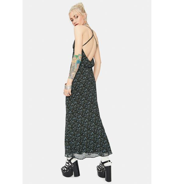 Wicked Major Crush Floral Cowl Neck Maxi Dress