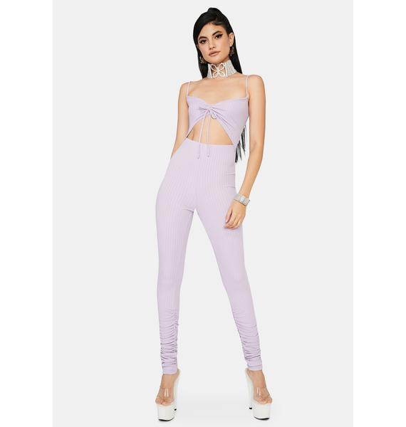 Lavender Can't Compare Cutout Jumpsuit