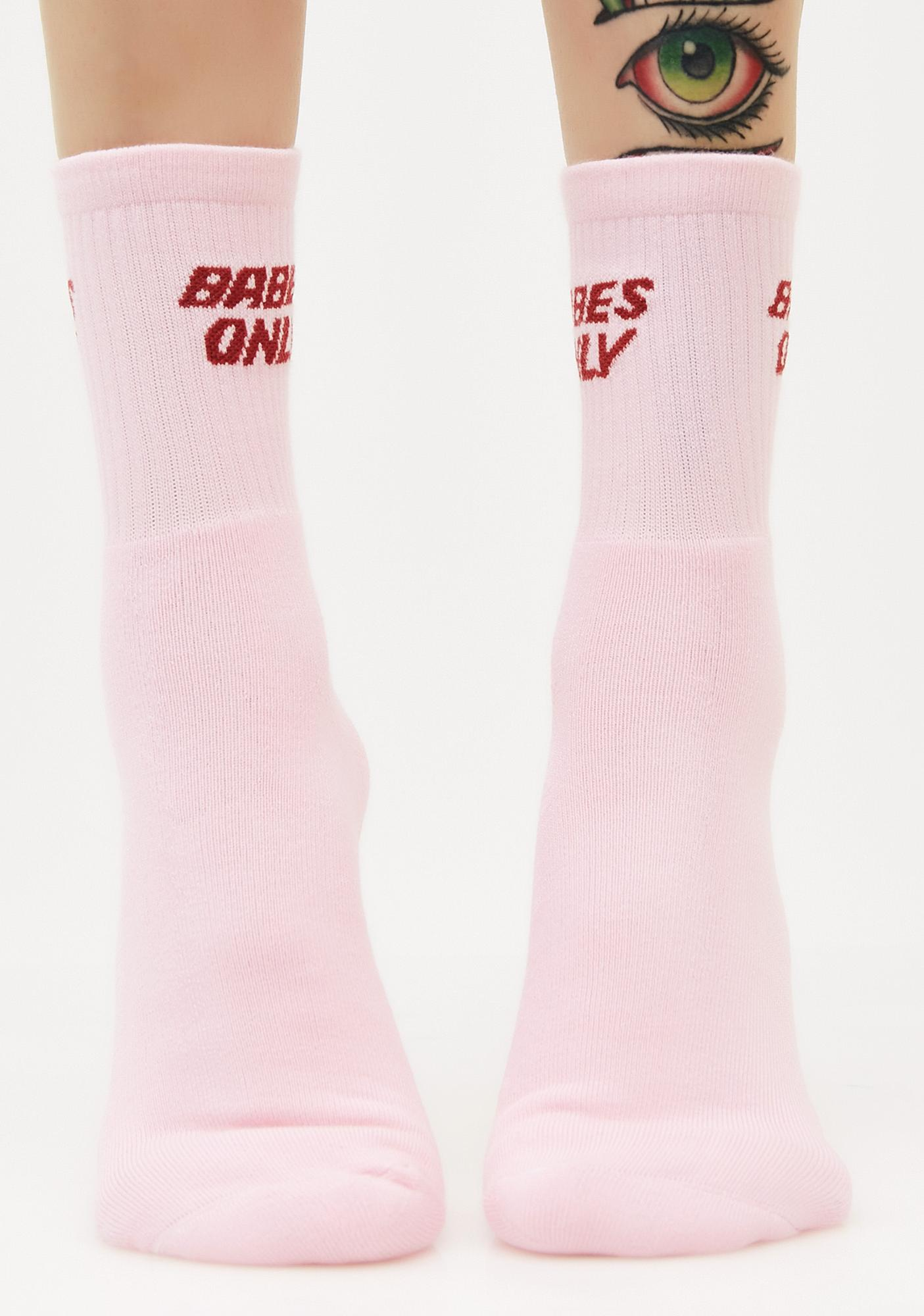 Local Heroes Babes Only Crew Socks