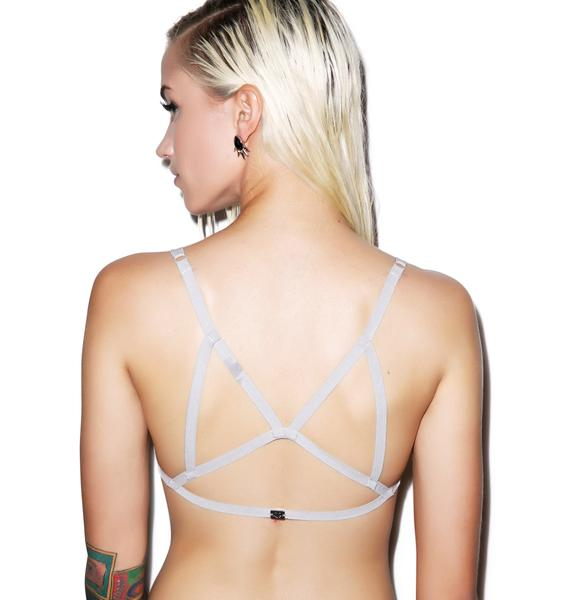 For Love & Lemons Long Line Strappy Bondage Bralette