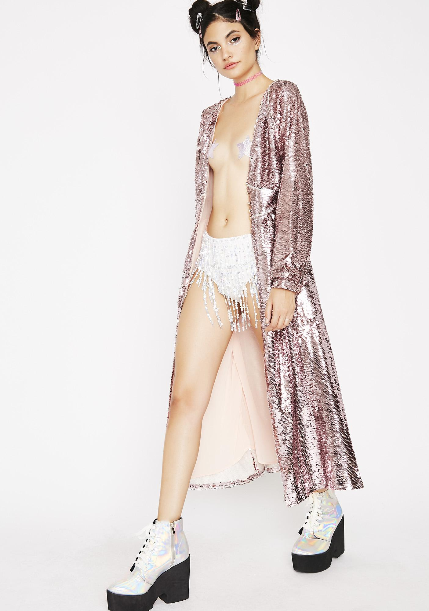Sparkle Princess Sequin Kimono