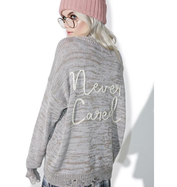 Wildfox Couture Don't Care Cambridge Sweater