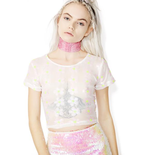Bunny Holiday Daisy Dreamz Crop Top