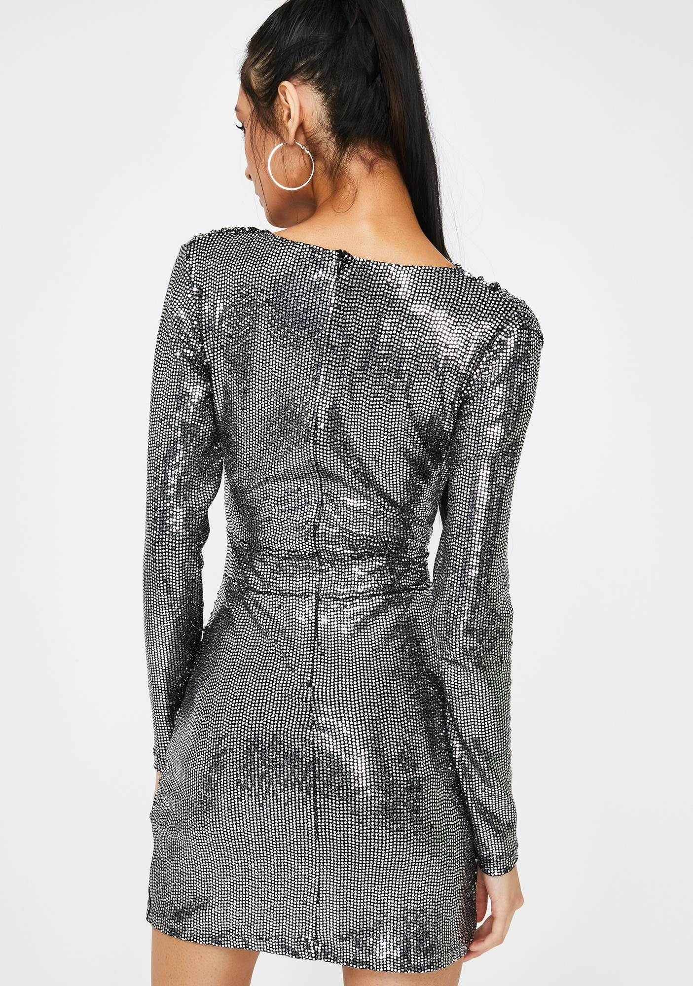 Kiki Riki Liquid Mercury Sequin Dress