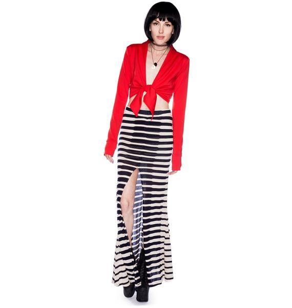 AGAIN Clement Maxi Skirt