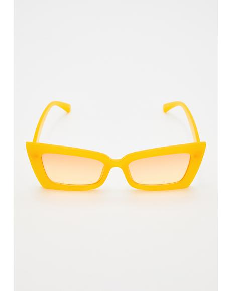 Funk Conductor Rectangle Sunglasses