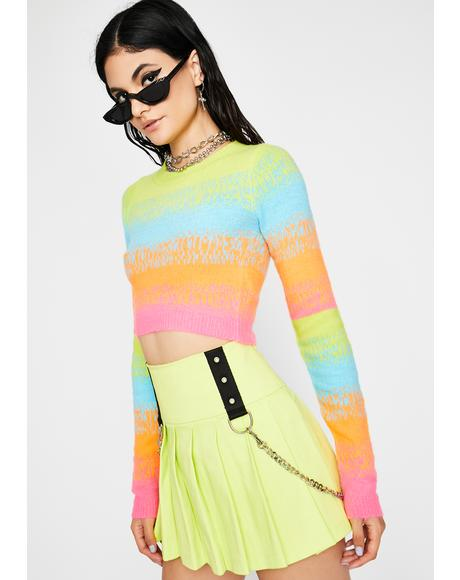 Technicolor Dream Cropped Sweater
