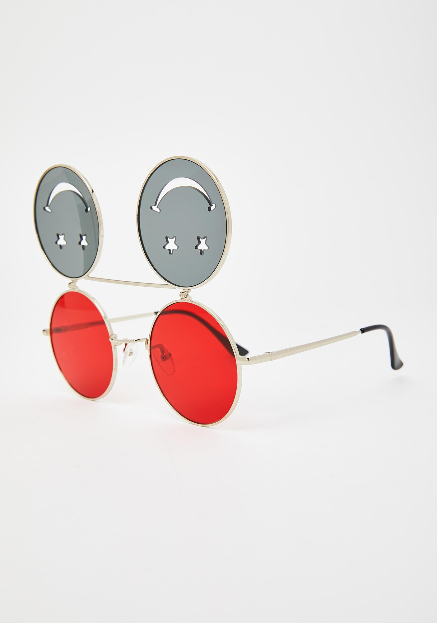 Hot Crazed Daze Smiley Sunglasses