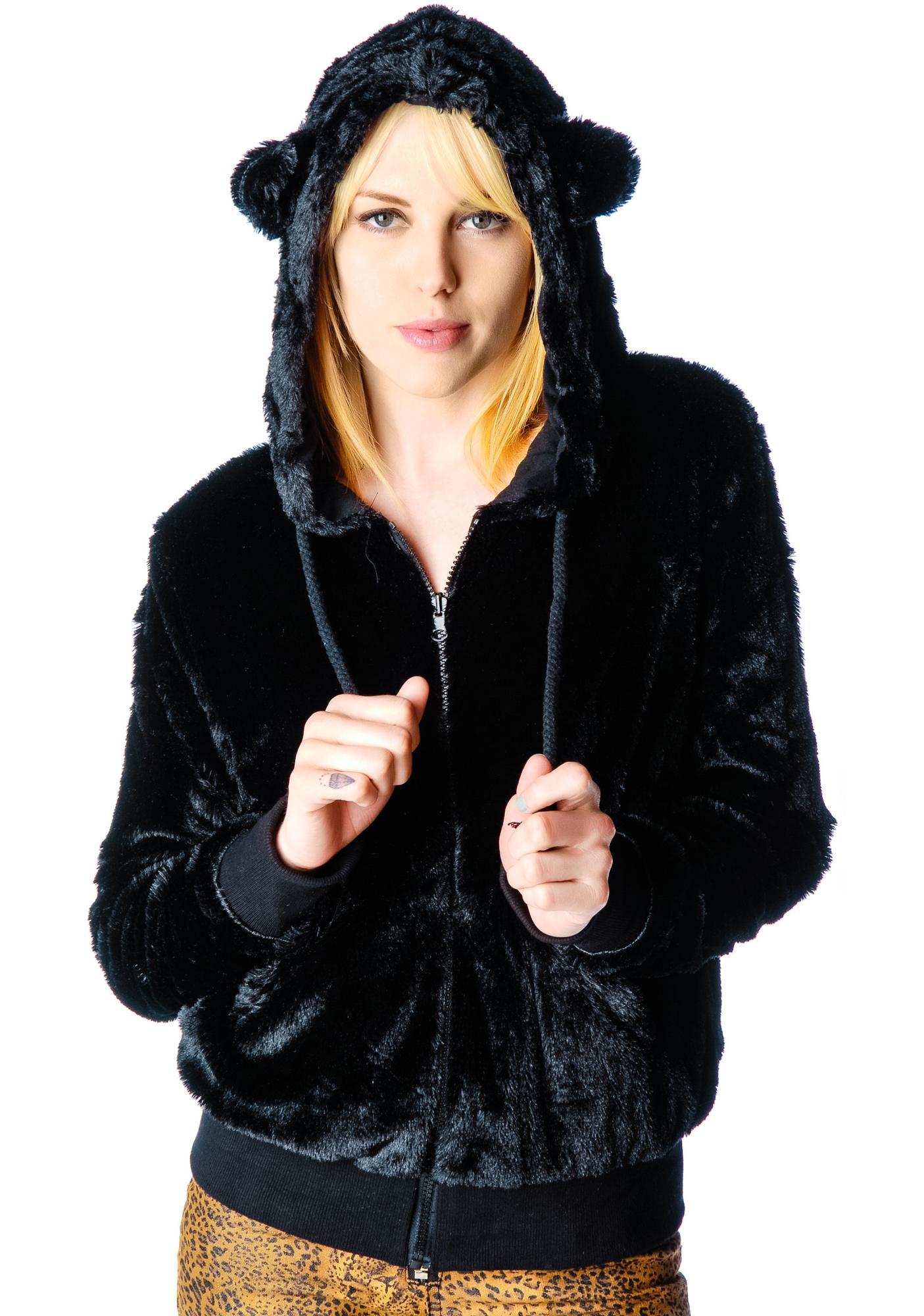 Furry Feline Tail Hoodie