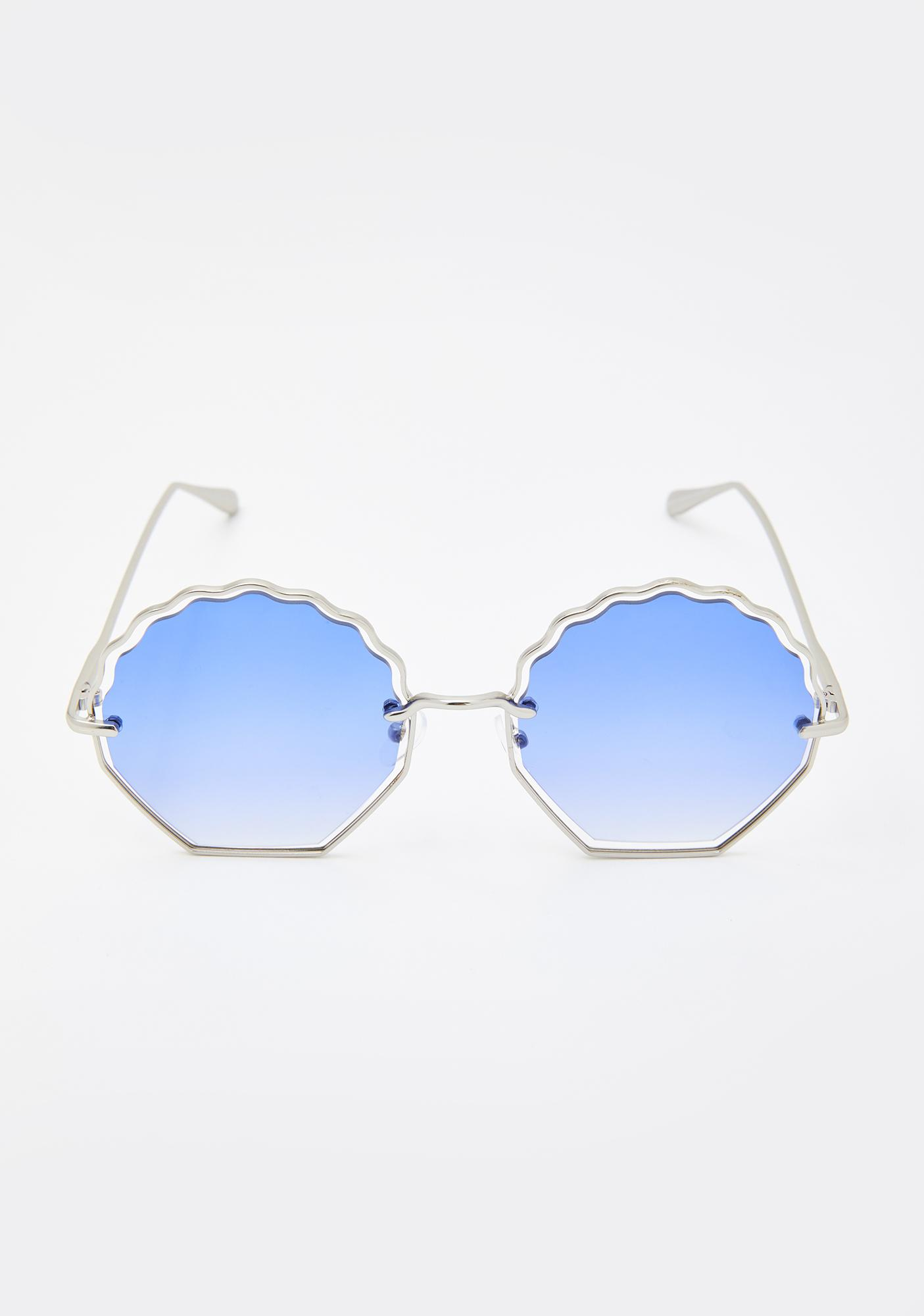 Azure Steal My Sunshine Oversized Sunglasses