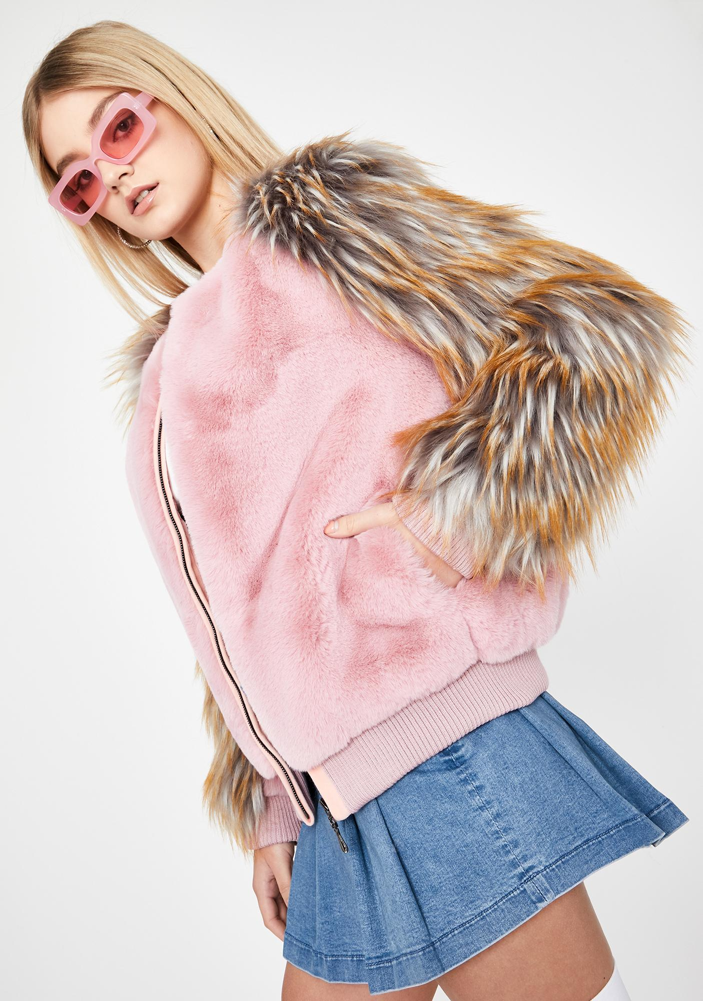 Baby Plays No Games Faux Fur Jacket