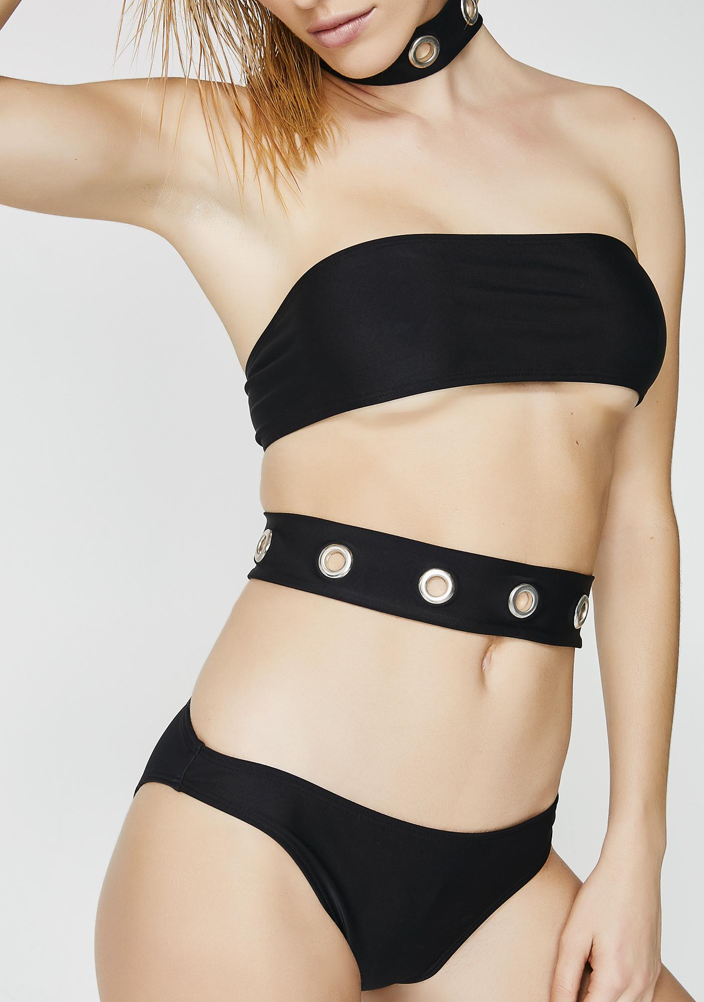 Jaded London Eyelet Choker Cutout Swimsuit