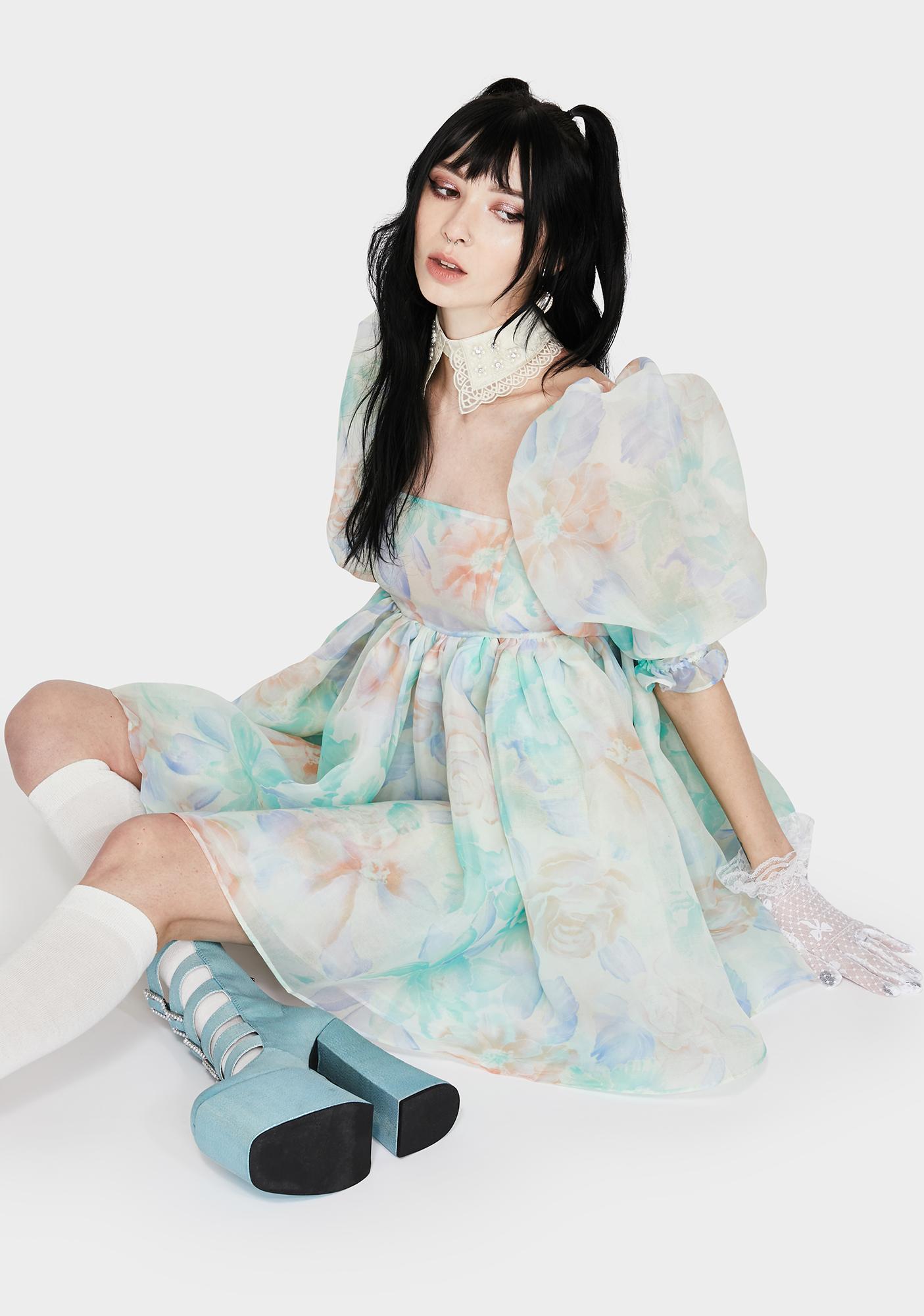 Selkie Miami Sofa Puff Dress