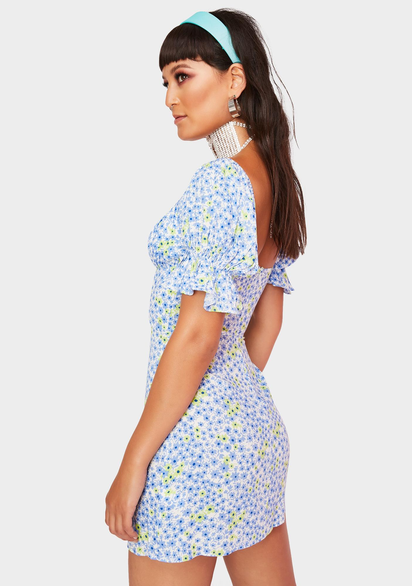Cloudless Poppyseed Dream Mini Dress