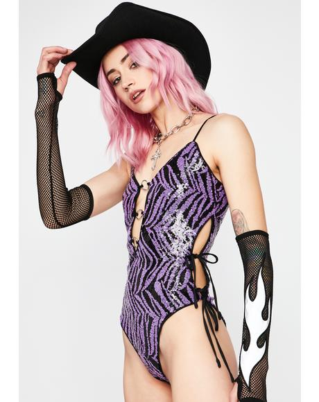 Frisky N' Fatal Sequin Bodysuit