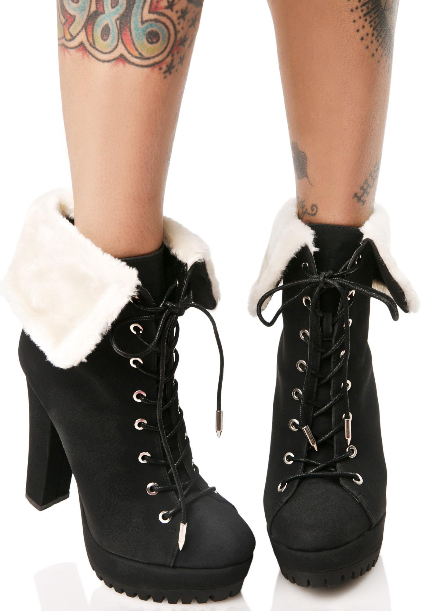 Dilemma Lace-Up Booties