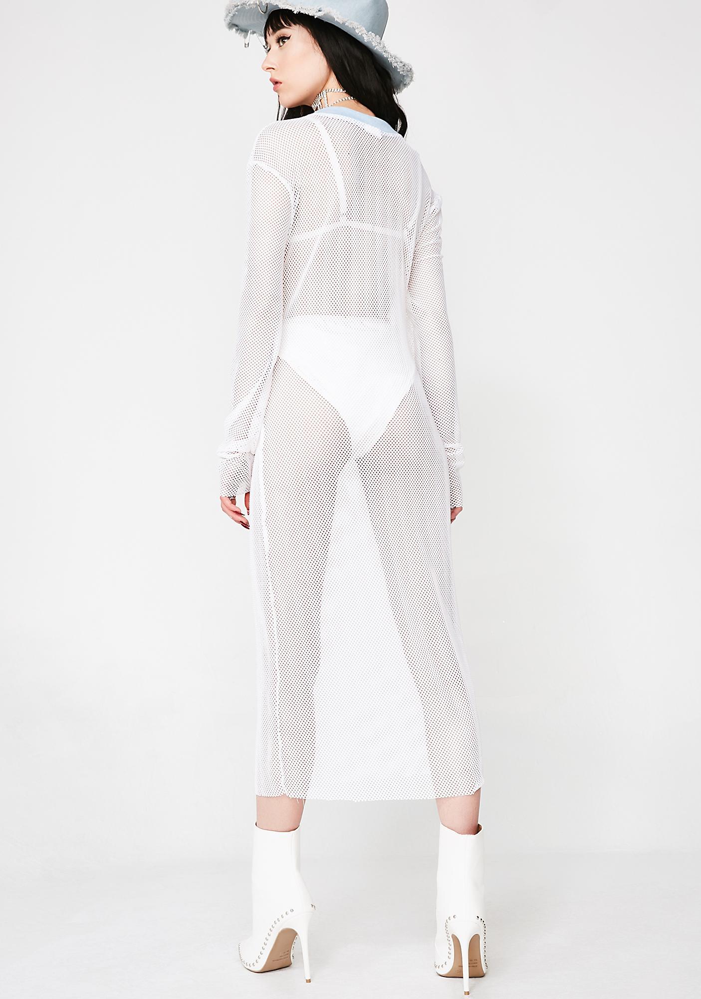 Isolated Heroes Micromesh Fishnet Midi Dress