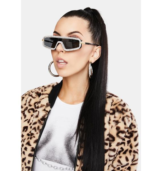 Gilded Getting Glam Rhinestone Sunglasses