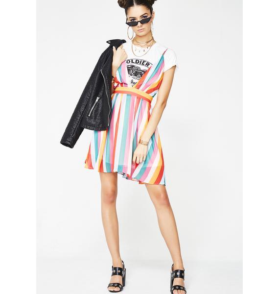 Rainbow Flow Mini Dress