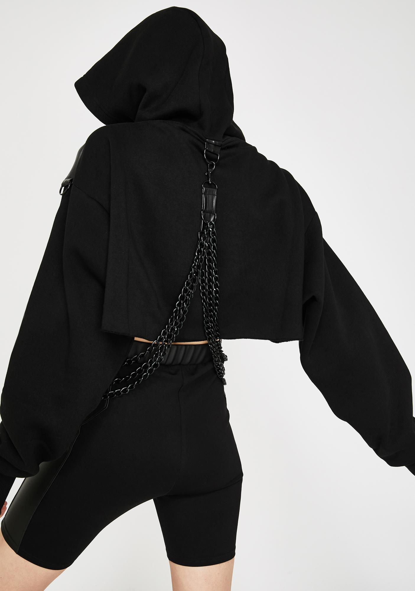 Current Mood Part Of The Plan Harness Hoodie