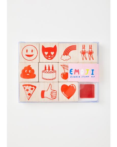 Emoji Rubber Stamp Kit