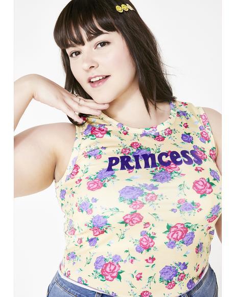Ditzy Lil Princess Floral Top
