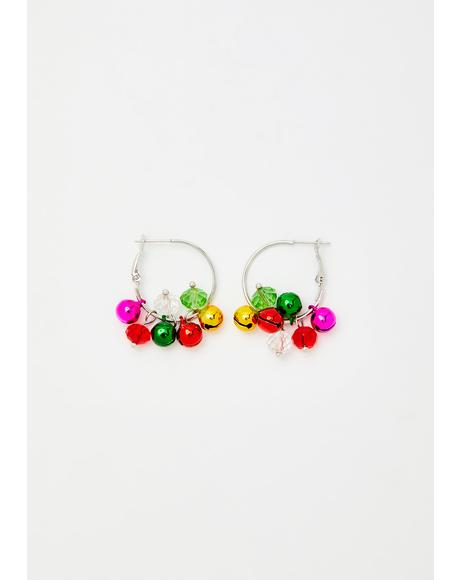 Holly Jolly Honey Jingle Bell Earrings