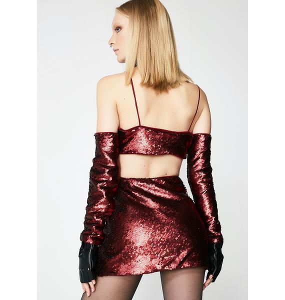Wine Behavior Mini Skirt