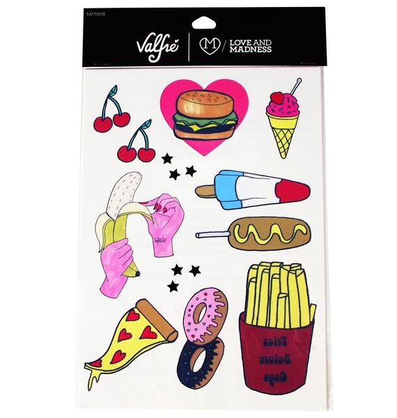 Love And Madness X Valfré Snacks N' Stuff Temporary Tattoos