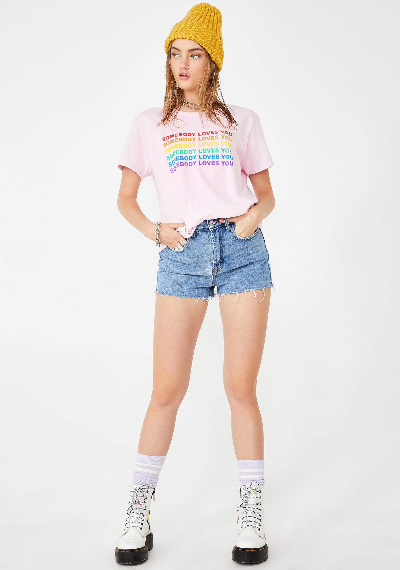 Daisy Street Somebody Loves You Graphic Tee