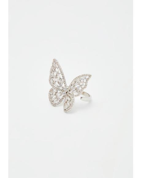 Forever Dreamer Butterfly Ring