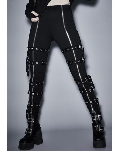 Empty Hysteria Buckle Leggings
