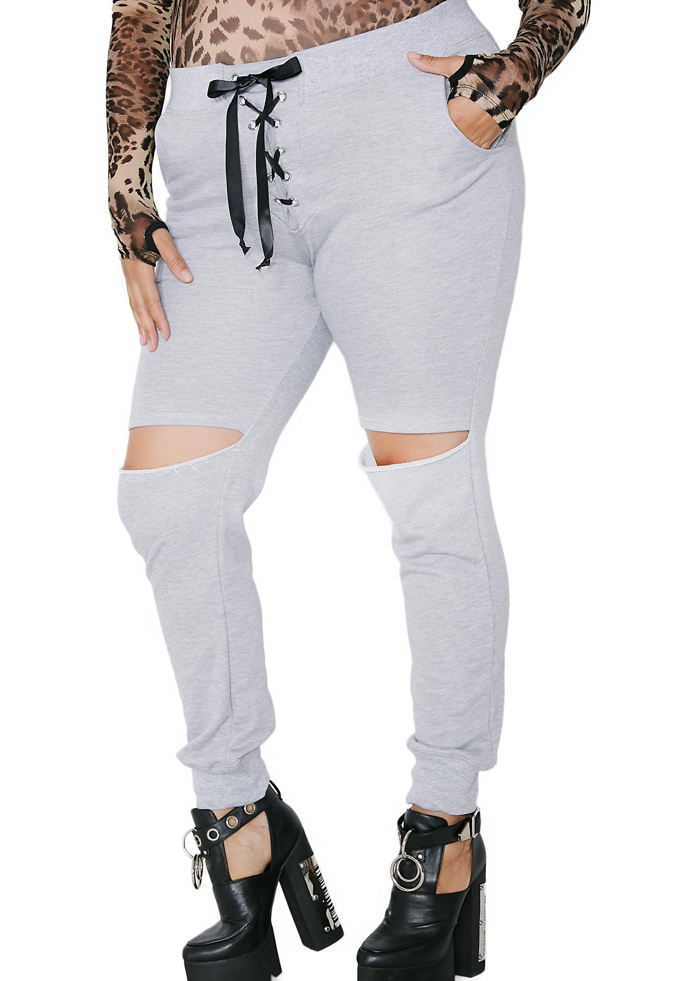 Poster Grl No Mercy Distressed Joggers