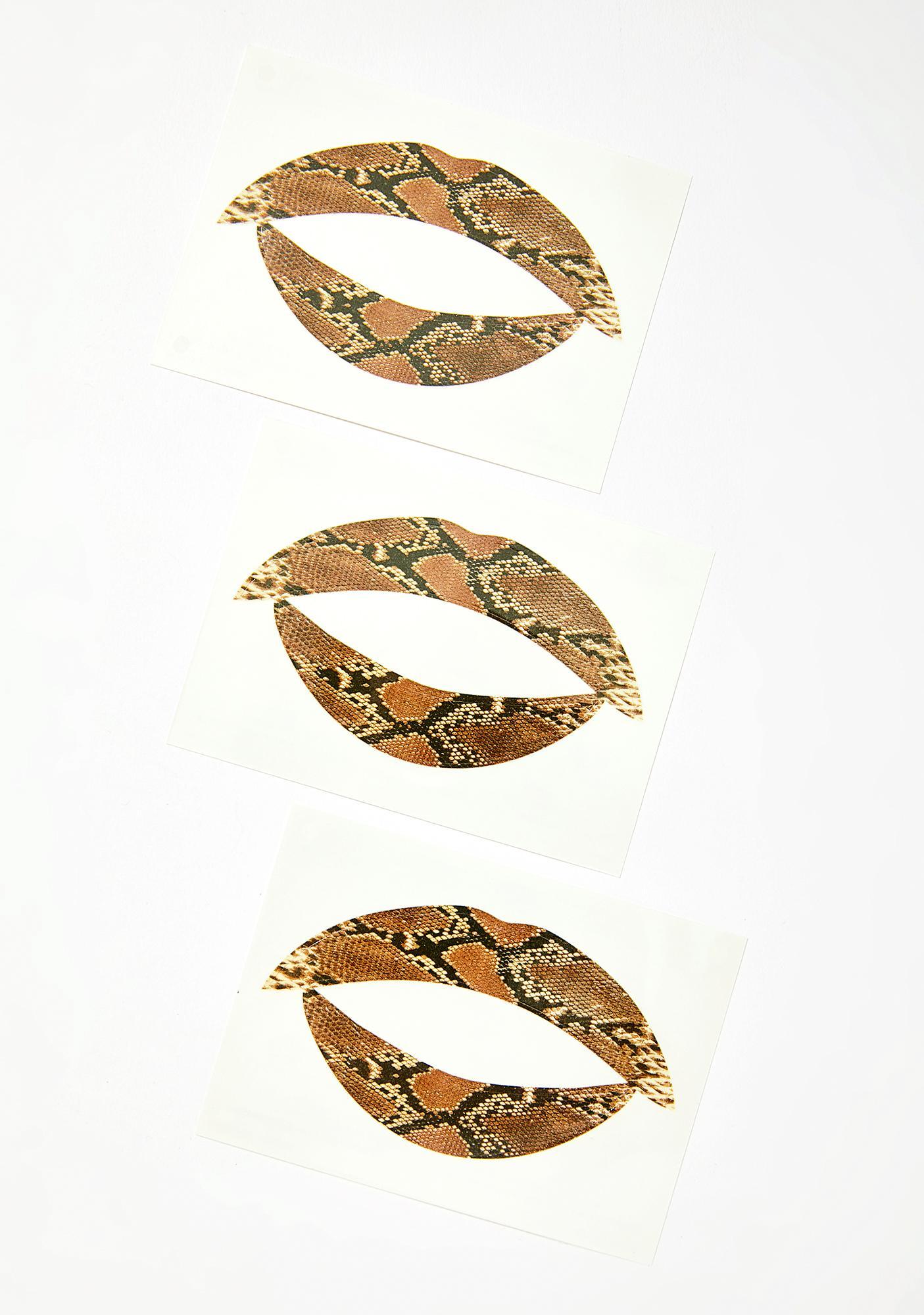 Violent Lips The Snake Lip Applique