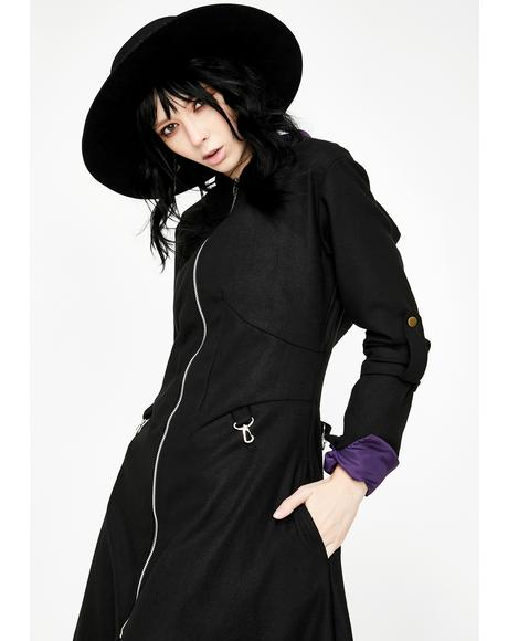 Purple Lined Selene Winter Coat