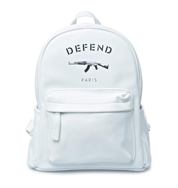 Defend Paris White AK Backpack