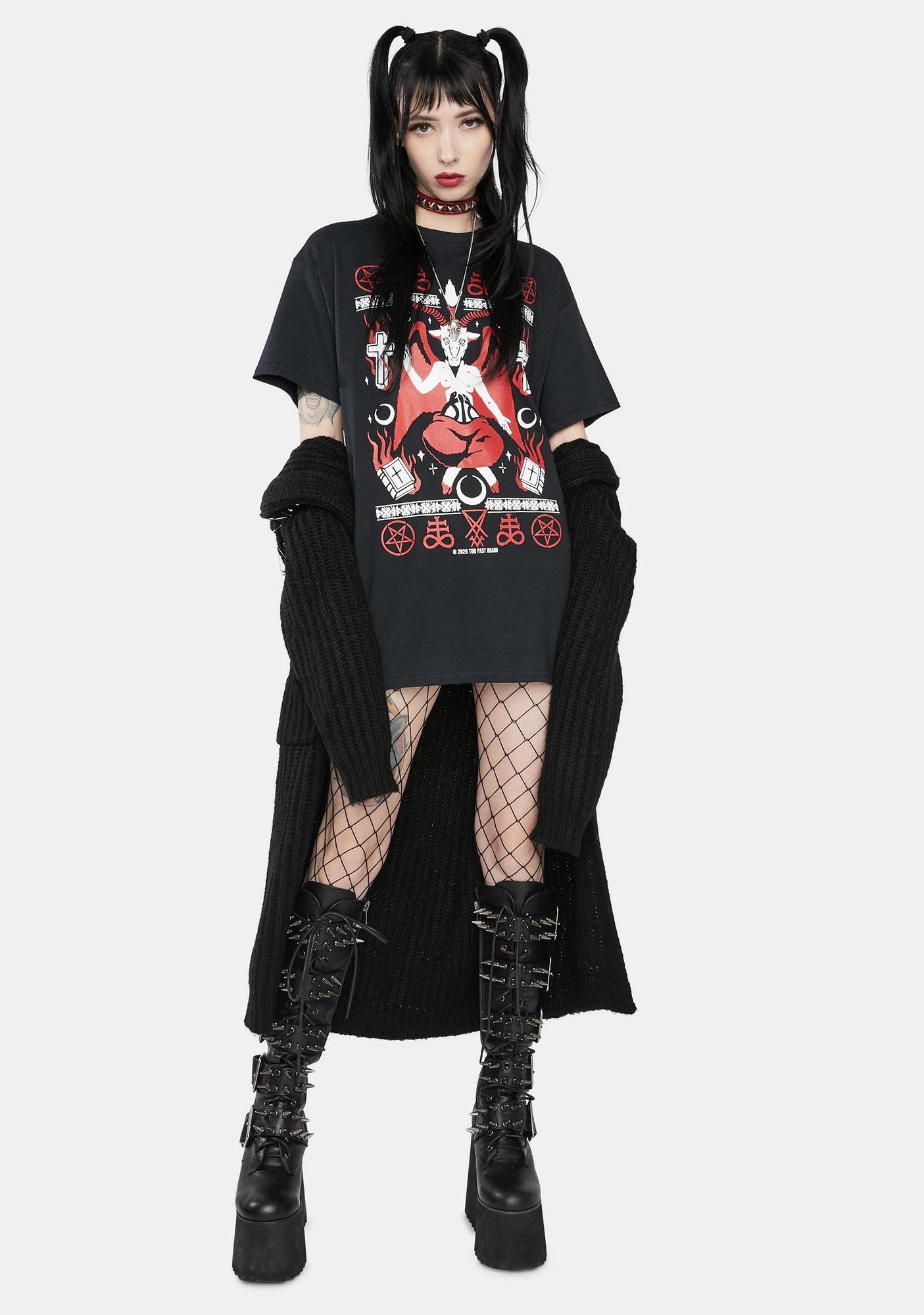 Too Fast Baphoclaus Christmas In Hell Graphic Tee