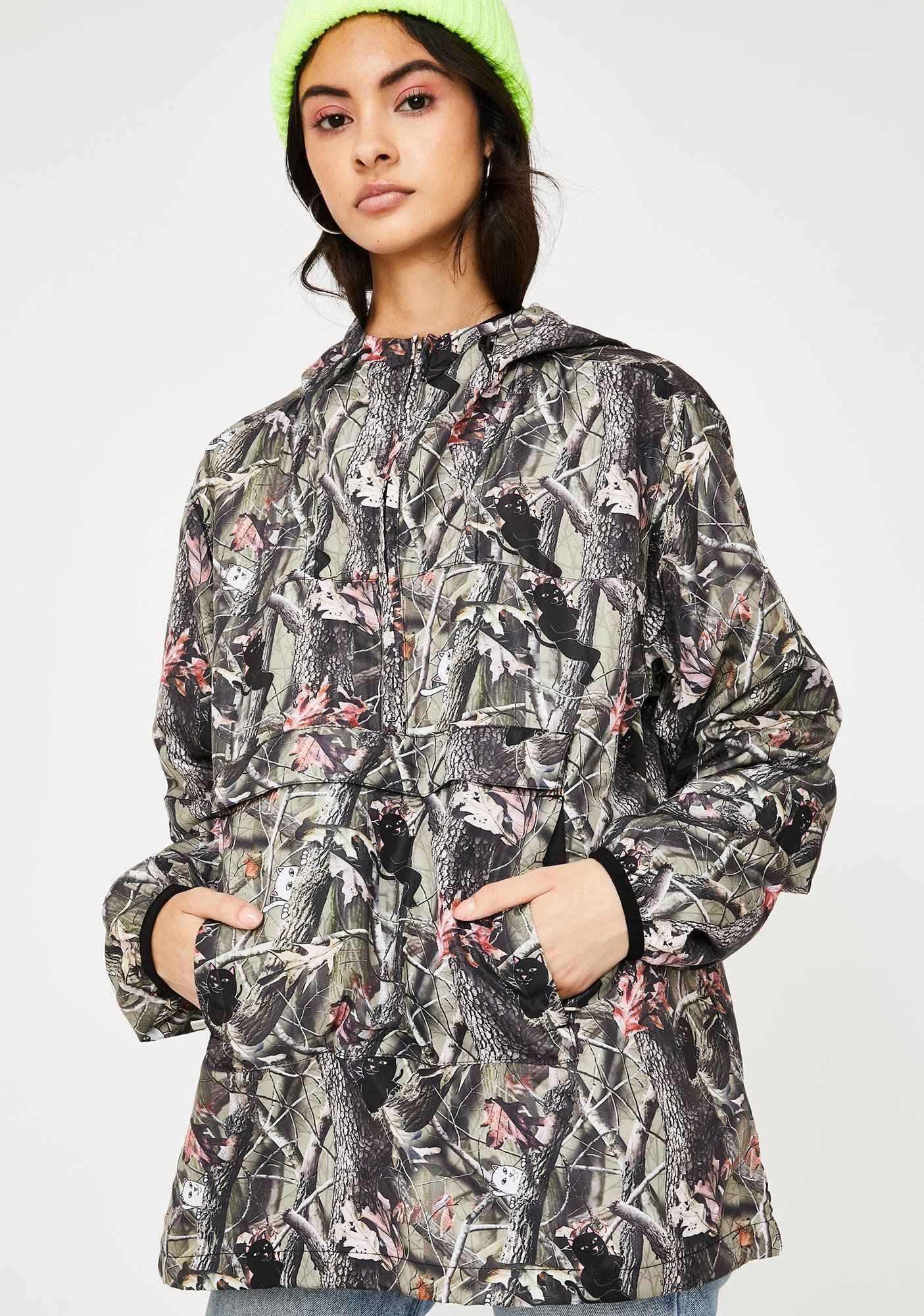 RIPNDIP Tree Camo Nerm N' Jerm Packable Anorak