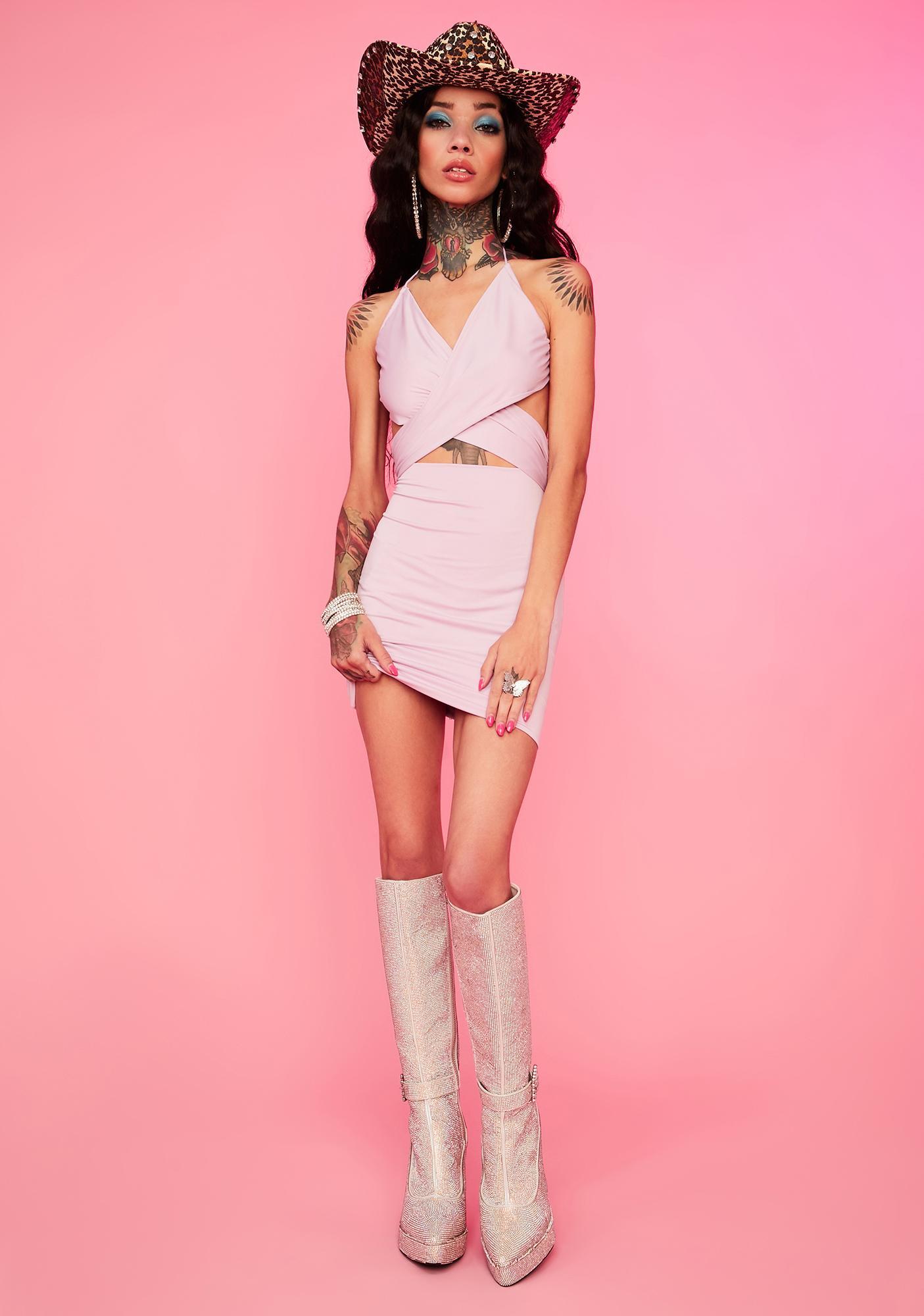 Lavender Gonna Love Me Halter Dress