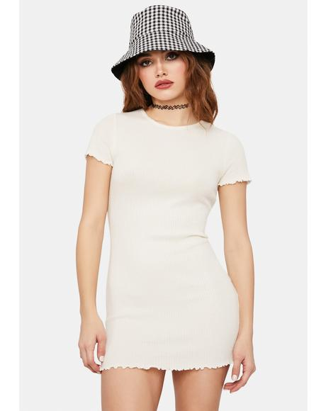 Bone Don't U Want Me Lettuce Hem Bodycon Dress