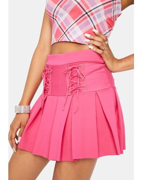 Candy Modern School Girl Pleated Skirt