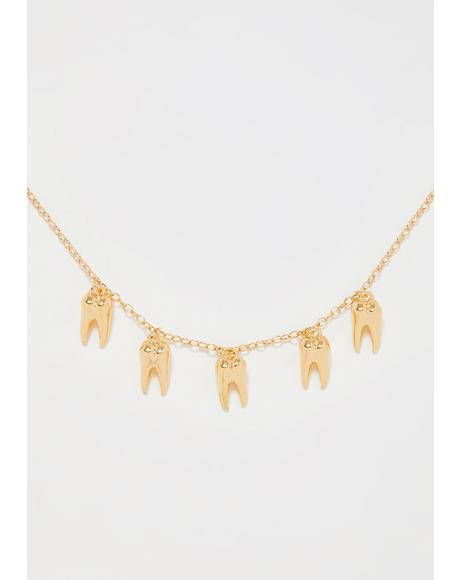 No Cavities Teeth Necklace