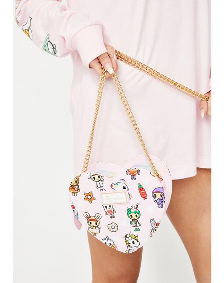 Toki Takeout Heart Shaped Crossbody Bag