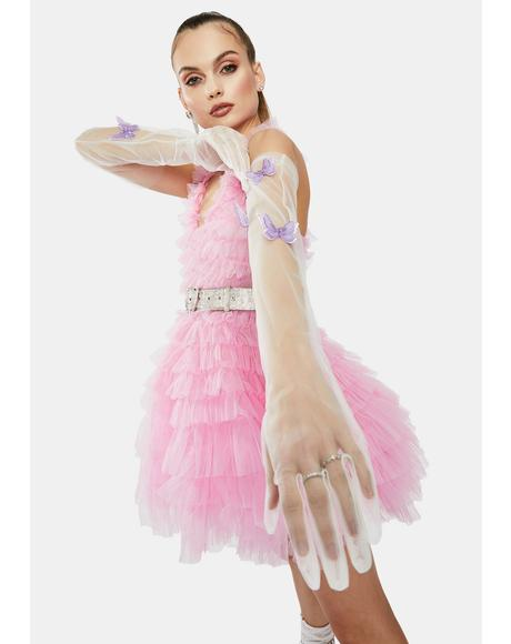 Floating Dreams Sheer Butterfly Gloves