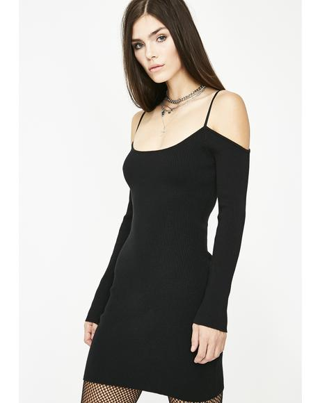 Heart Racing Knit Sweater Dress