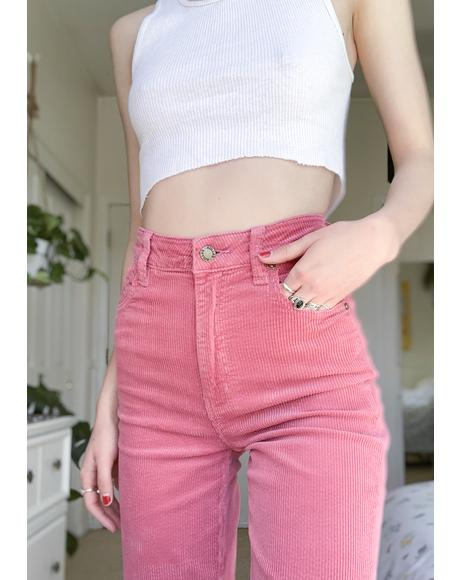 Rose Eastcoast Corduroy Flares