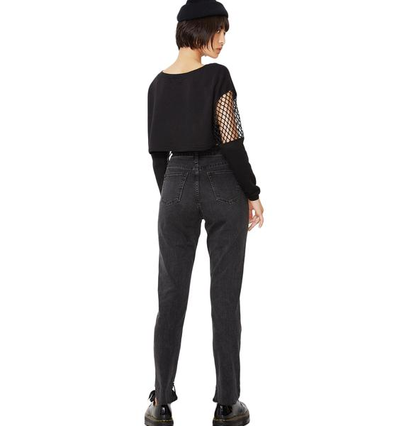 Glamorous On Edge Grommet Denim Jeans
