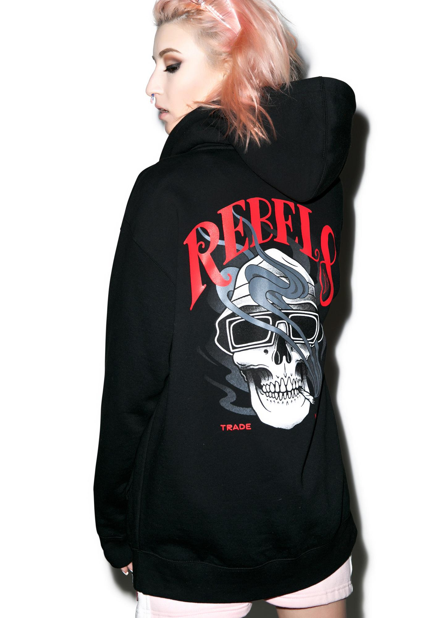Rebel8 Smoked Loc Zip-Up Hoodie